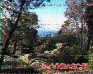 Mt Lawson VK3/VE-129  via 40m SSTV