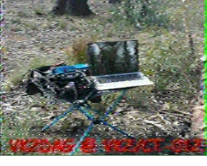 First SSTV image of VK2/CT-012 in Robot 36 format