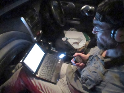 In-car shack for the QRP Hours contest